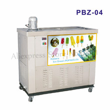 Commercial Ice Pop Making Machine Stainless Steel Ice Lolly Maker Ice-cream Bar Equipment 4 Molds Capacity 12000pcs/day PBZ-04 2017 new design commercial popsicle machine fruit ice lolly maker machine italian ice cream sorbet machine