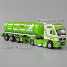 Kdw 1:50 diecast metal caminhão modelo brinquedos 28cm petroleiro de óleo veículo miniatura réplica coleção grande