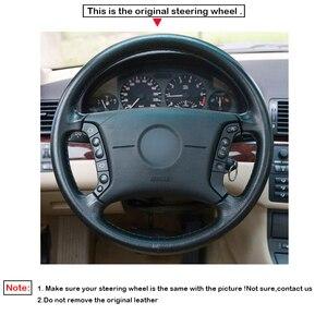 Image 3 - Zwart Pu Kunstleer Diy Auto Stuurhoes Voor Bmw E36 1995 2000 E46 1998 2004 E39 1995 2003 X3 E83 X5 E53 2000 2006