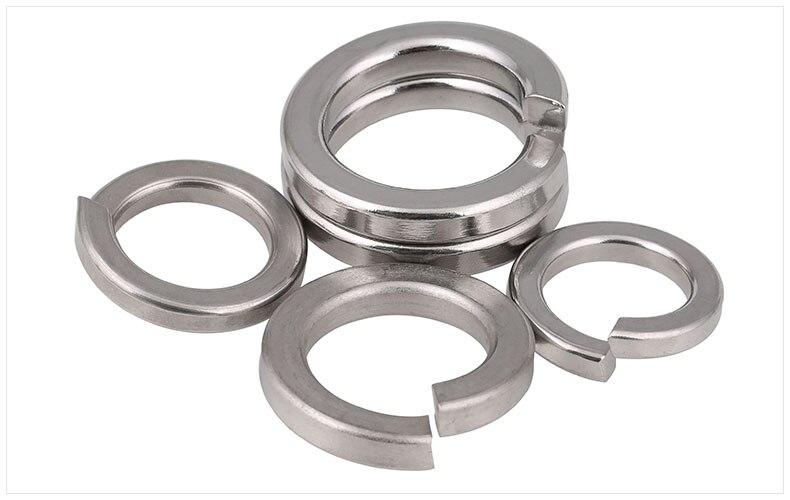 50//100Pcs Rondelles élastiques Spring Washers M2 M2.5 M3 M4 M5 M6 M8 M10 M12 M14