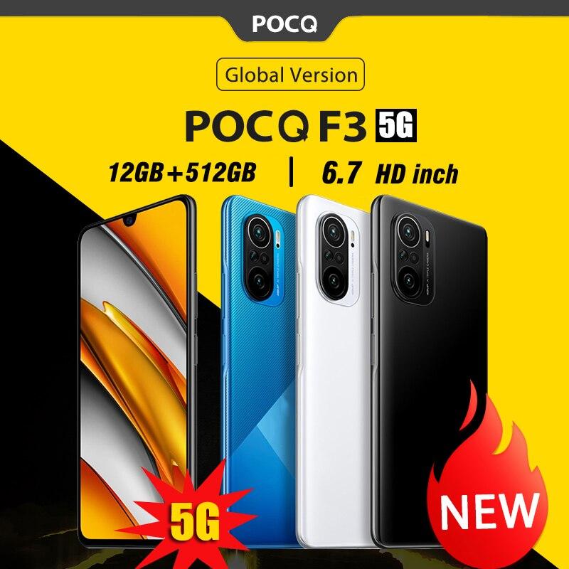 Глобальная версия смартфонов POCQ F3 5G Версия ОС: android Мобильные телефоны 12 Гб + 512 Гб 6,7 дюймовые телефоны 10-ядерный Face ID cellphoen