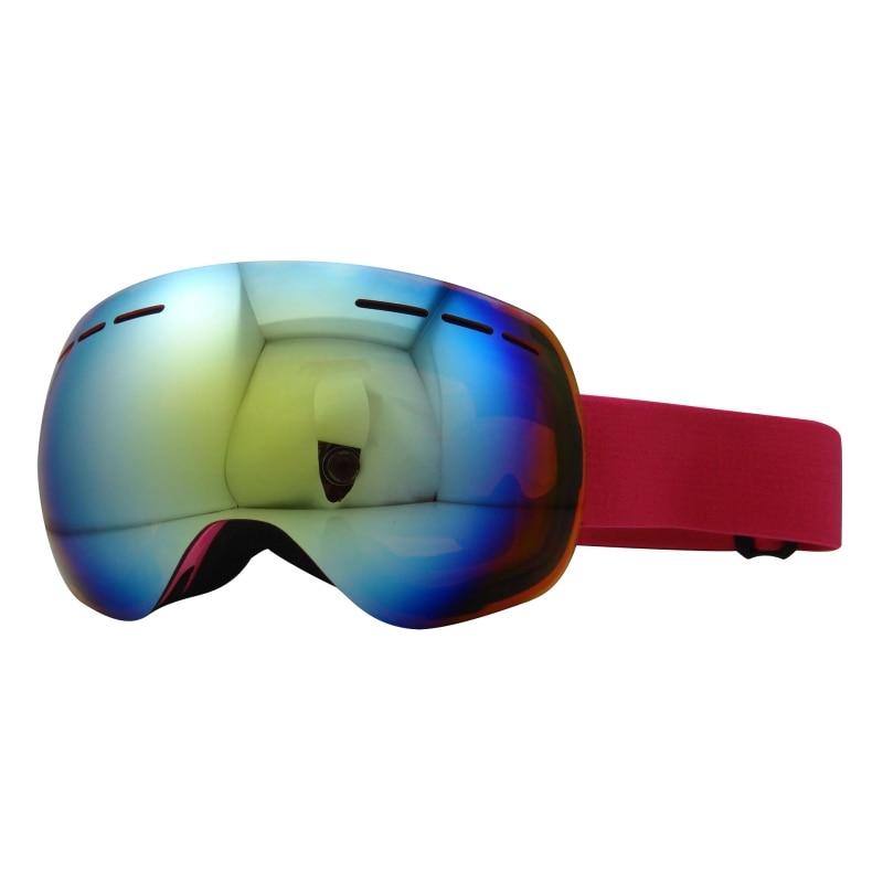 RHigh Quality Frameless Spherical Lens Snow Snowboard Eyewear Double Layers Anti-Fog Big Ski Mask Glasses Rimless Ski Goggles