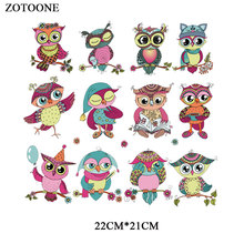 ZOTOONE Cartoon Owl Patches for Clothing Applique Printed DIY Embroidered Colorful Patch Iron on Heat Transfers Clothes G