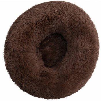 Round Plush Cat Bed House  1