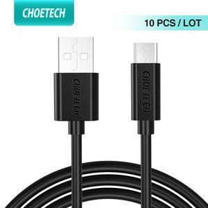 Image 1 - CHOETECH 10 sztuk/partia Micro USB kabel 5V 2.4A Micro USB synchronizacja danych i ładowanie kabli telefonów komórkowych 1.2M dla telefonów i tabletów z systemem Android