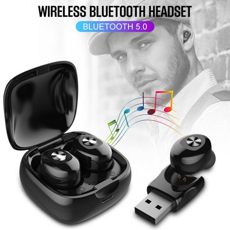 XG12 TWS Binaural Wireless Earpiece Bluetooth 5.0 Earphones Sport Earbuds Headset With Mic For HFP/HSP/A2DP/AVRCP Headset TSLM1