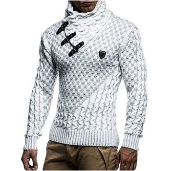 ZOGAA Mens Sweaters 2020 Warm Hedging Turtleneck Pullover Sweater Man Casual Knitwear Slim Winter Sweater Male Brand Clothing new men s sweaters autumn winter warm pullover thick cardigan coats mens brand clothing male casual knitwear sa582
