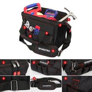 Image 5 - WORKPRO Bolsa de herramientas impermeable para hombre, bolso de viaje, cruzado, de gran capacidad, Envío Gratis, 4 tamaños (12, 14, 16 y 18 pulgadas)