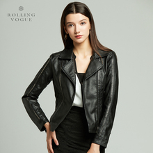 2019 Autumn Winter Gothic Black Brown Steampunk Motorcycle Biker Short PU Faux Leather Jacket Women Plus Size Windbreaker Coat