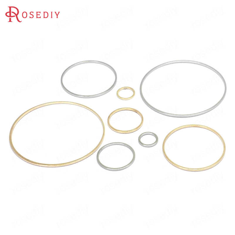 (13077) قطر 8 مللي متر إلى 70 مللي متر الجولة النحاس مغلقة خواتم ربط خواتم صنع المجوهرات النتائج أكثر اللون يمكن اختيار