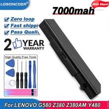 6 ячеек Аккумулятор для ноутбука LENOVO G580 Z380 Z380AM Y480 G480 V480 Y580 G580AM L11M6Y01 L11L6Y01 L11L6F01 L11L6R01 L11N6R01