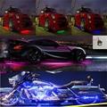 Для внутреннего и наружного декора атмосферная Лампа мотоцикл автомобиль RGB один для шести светодиодный атмосферный светильник двери авто...