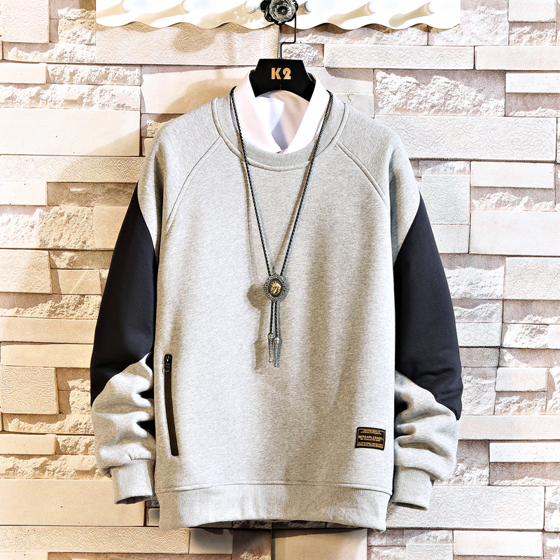 Japan Style Casual O-Neck 2020 New Arrived Hoodie Sweatshirt Men Thick Fleece Style Hip Hop High Streetwear Clothing
