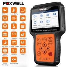 FOXWELL – Outil de diagnostic automobile, scanneur professionnel de voiture, ABS, SRS, DPF, régénération huile, lecteur de code, NT650 OBD2