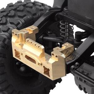 Image 4 - INJORA Metal Brass Front Servo Stand for 1/10 RC Crawler Car Traxxas TRX4 TRX 4 TRX 6 Upgrade Parts