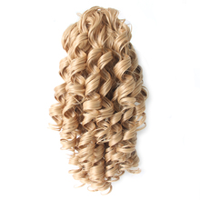 Pageup Wave Clip In Hair Ponytail Heat Resistance Hairpiece Fake Bun For Woman Synthetic Extensions