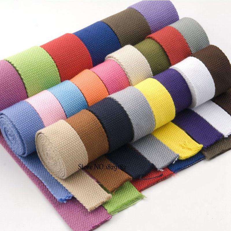 Mochila de lona para cinto/fita em algodão, mochila externa, 3 jardas, 25/30/38mm peças diy artesanato para casa
