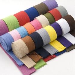 3Yards 25/30/38mm Canvas Webbing/Ribbon Bag Cotton Webbing Belt Knapsack Accessories Outdoor Backpack  Parts DIY Craft For Home