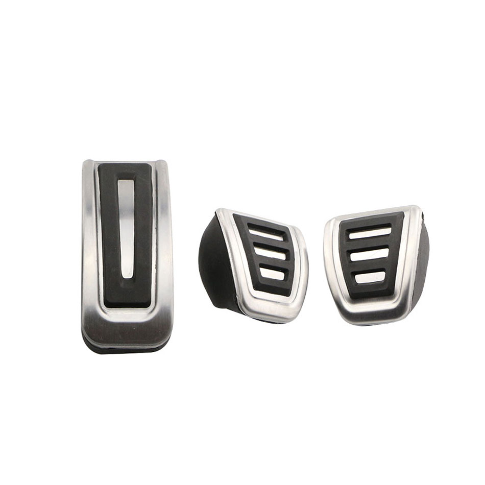 Xburstcar Stainless Steel MT AT Car <font><b>Pedal</b></font> <font><b>Pedals</b></font> Pads Cover for Volkswagen <font><b>VW</b></font> Polo Jetta <font><b>MK4</b></font> for Bora <font><b>Golf</b></font> <font><b>MK4</b></font> Car Accessories image
