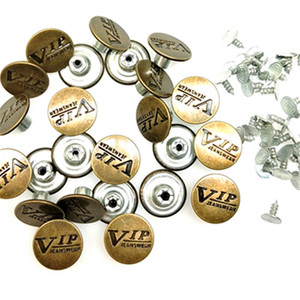 CNCRAFT 20/50-in-1 Sets JEANS Metal Buttons Jean Tack Color Bronze 17x8mm-design customized-charm for fashion