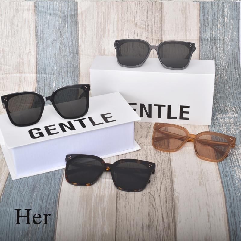 Óculos de sol gm design para grande face, óculos de sol feminino polarizado com acetato quadrado uv400 2020