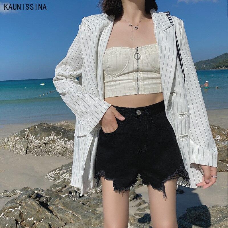 Women's Denim Shorts Summer New Girls High Waist Jeans Korean Style Sexy Vintage High Waist Shorts Women Summer Short Pants