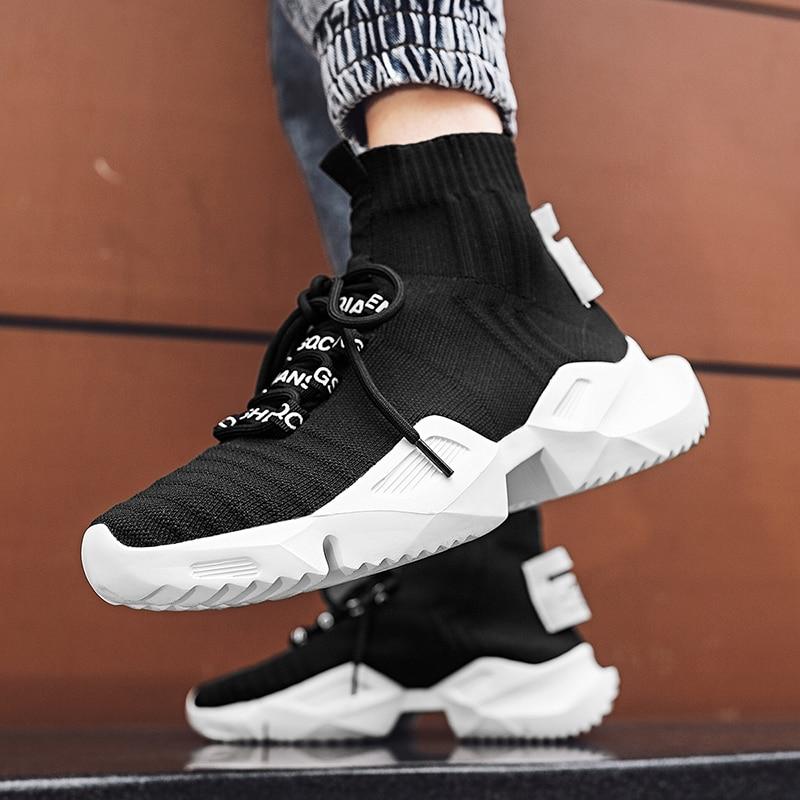 Dam yuan Men's Retro Sock Sneakers Chunky Men Shoes Breathable Men  6