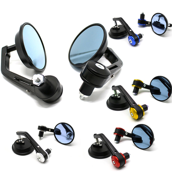 2pcs/Pair Universal Motorcycle mirror 22mm 7/8 handlebar end Rearview mirror motorbike side mirrors cafe racer Rear view mirror 7 8 22mm bar end rear mirrors motorcycle accessories motorbike scooters rearview mirror side view mirrors moto for cafe racer
