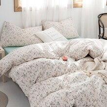 OXYGEN Cotton Bedding Set Duvet Cover 220x240 Pillowcase Bed Sheet Fitted Sheet Set 4pcs Home Textiles Twin Queen King Size
