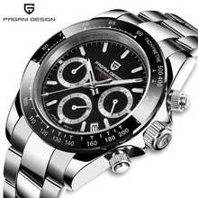 PAGANI DESIGN DAYTONA Men Watch Japan VK63 Quartz Wristwatch Brand Luxury Sapphi