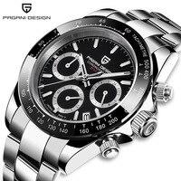 PAGANI DESIGN DAYTONA Men Watch Japan VK63 Quartz Wristwatch Brand Luxury Sapphire Chronograph Watch Men Relogio Masculino 1644