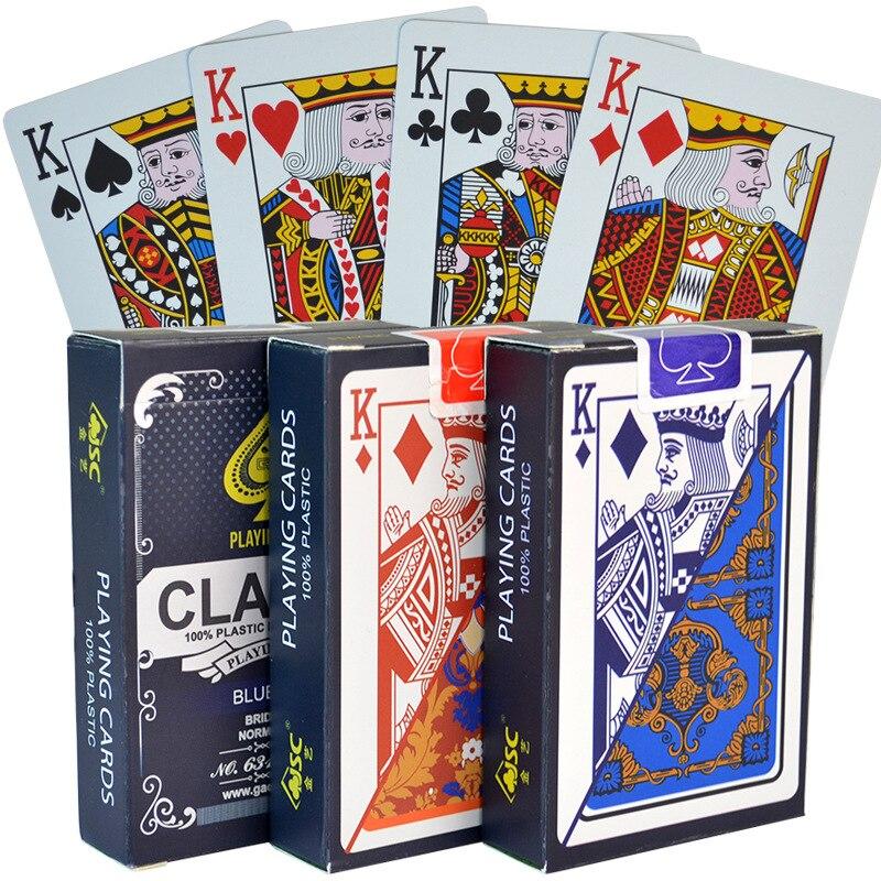 100% ПВХ новый шаблон Пластик Водонепроницаемый взрослые игральные карты для игры в покер карты; Настольные игры 58*88 мм карты покер карты
