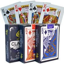 100% pvc novo padrão plástico impermeável adulto jogando cartas jogo de cartas de poker jogos de tabuleiro 58*88mm cartões de poker