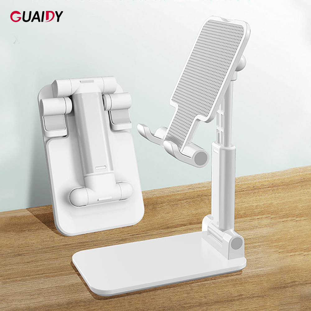 Desktop Stand Phone Holder Metal Folding Telescopic Cute Silicone Mirror For Samsung Note Tablet Compatible Simple Portable