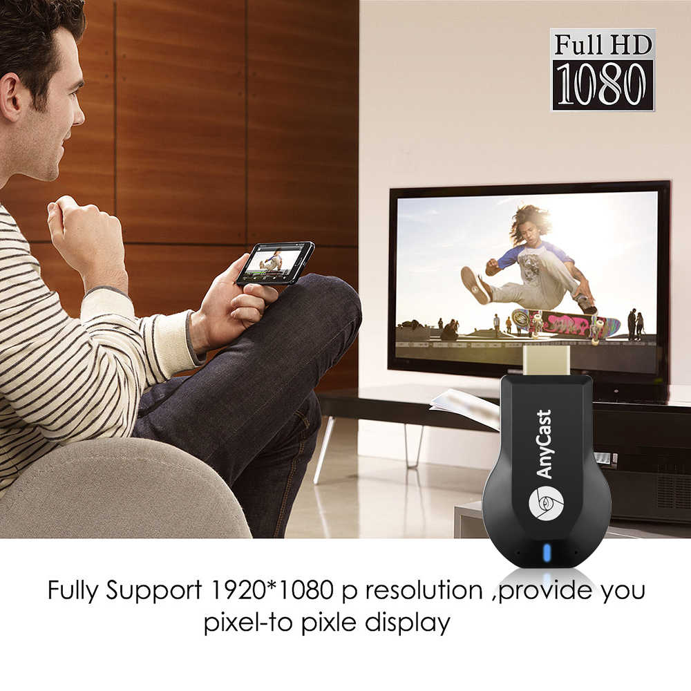 TV Stick 1080P Wireless WiFi Display TV Dongle receptor para AnyCast M2 Airplay 1080P HDMI TV Stick para DLNA Miracast