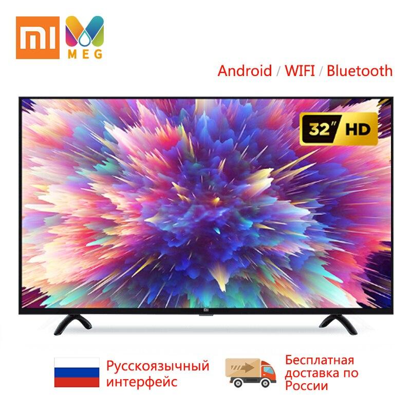 Télévision xiaomi mi TV Android smart TV LED 4S 32 pouces   Custo mi zed langue russe   support mural cadeau