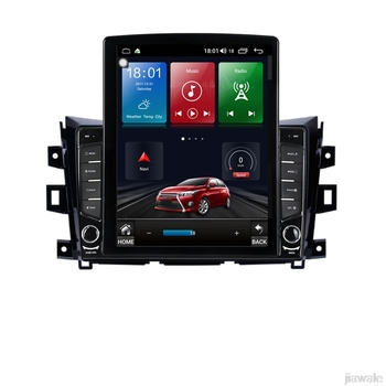 9.7 octa core tesla style vertical screen Android 10 Car GPS Navigation for Nissan Navara NP300 Terra Renault Alaskan 2014-2017 image