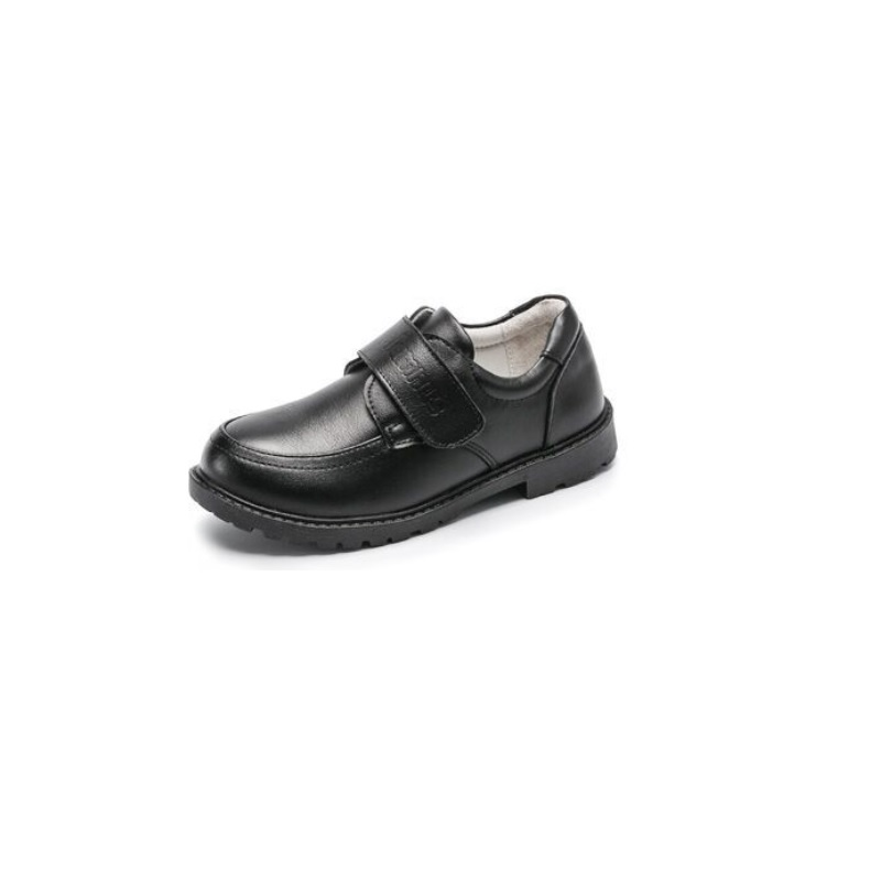 NEW  Boys Real Leather Shoes  Black School Shoes Children Shoes Baby Kids Boots Big Boy Dress Shoes