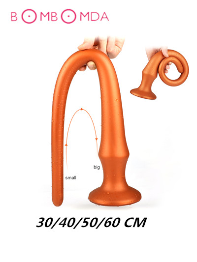 30/40/50/60 Cm Anus Backyard Long Butt Plug Sex Toy For Men Anal Plug  No Vibrator Silicone Anal Sex Toy For Couples Sex Product