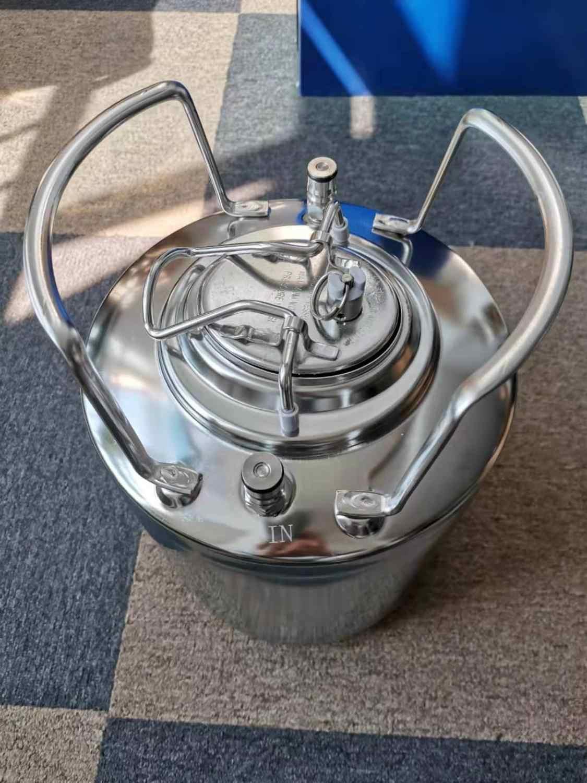2.5 gallon acciaio cornelious fusti