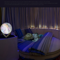 Moon Lights Children's Gifts Creative Table Lamps Painted Stars LED 3D Night Lights Touch Seven Colors art deco