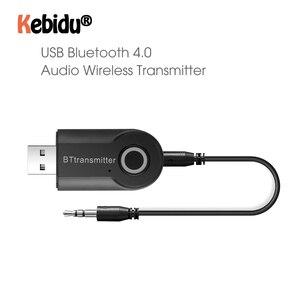 Image 1 - Bluetooth передатчик 3,5 мм разъем аудио адаптер Беспроводной Bluetooth 4,0 стерео аудио передатчик адаптер последняя для наушников ТВ