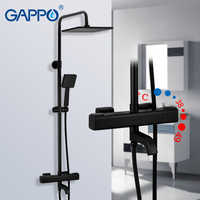 GAPPO thermostatic shower system hot cold mixer bathroom shower Brass faucet Bathtub shower set thermostatic mixer black faucet