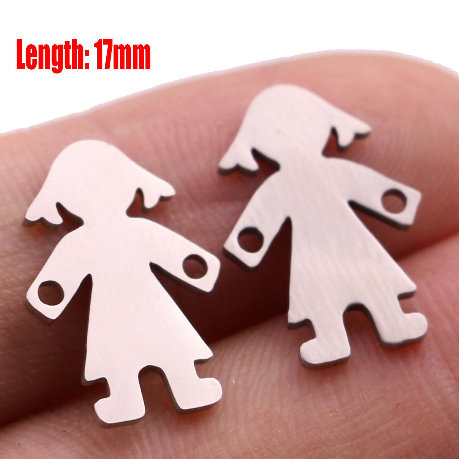5pcs Family Chain Stainless Steel Pendant Necklace Parents and Children Necklaces Gold/steel Jewelry Gift for Mom Dad New Twice - Цвет: Steel 16