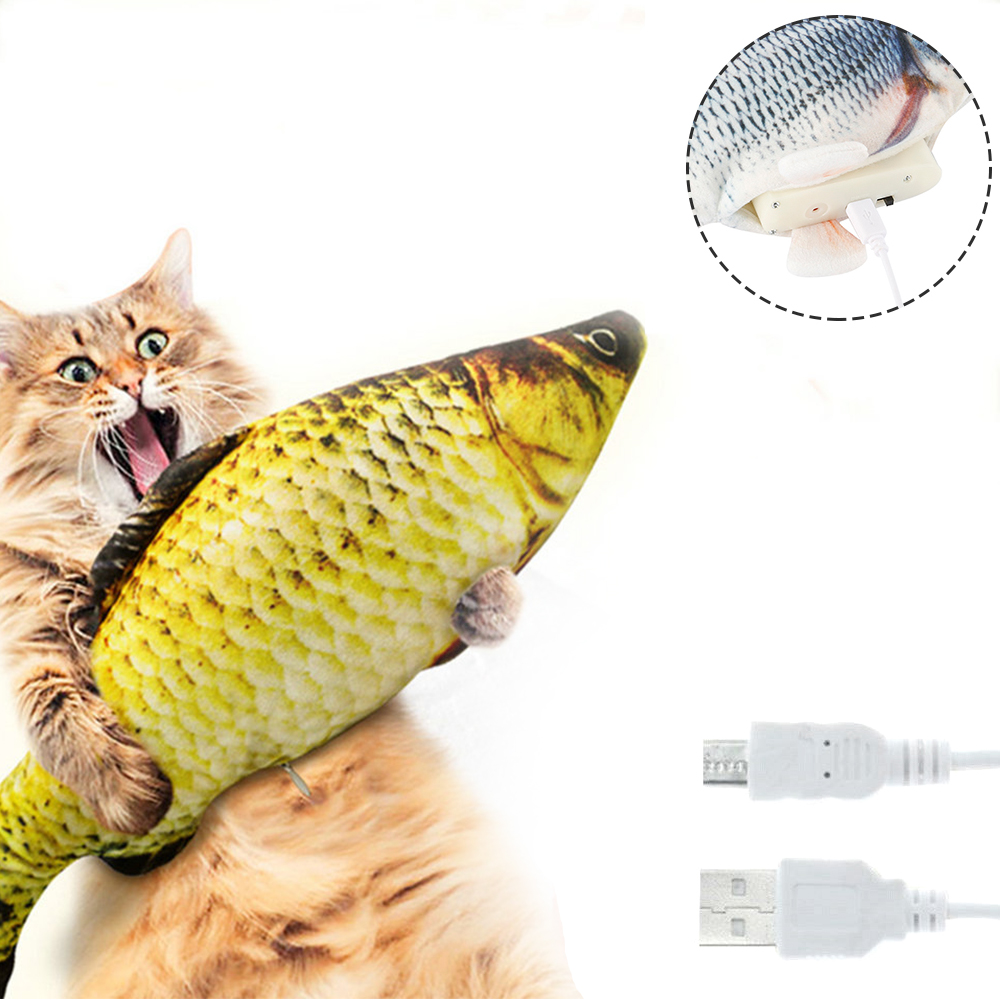 Electronic Cat Toy 3D Fish Electric Simulation Fish Toys for Cats Pet Playing Toy cat supplies juguetes para gatos pet toys img3