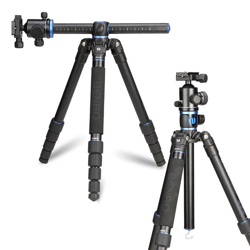 Benro GA268TB2 Kit trépied aluminium professionnel caméra trépied rotule colonne centrale transversale support Stable trépied Mobile