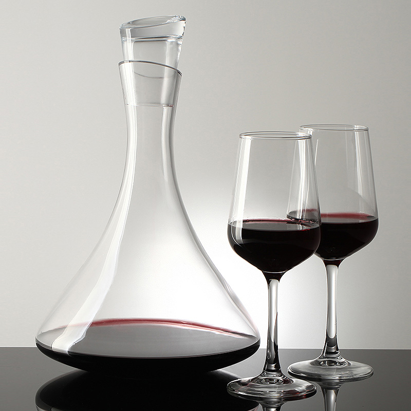 Home Wine Decanter Crystal Glass Wine Breather Carafe 100% Hand Blown Winebreather Carafe Wine Aerator Accessory With Wide Base