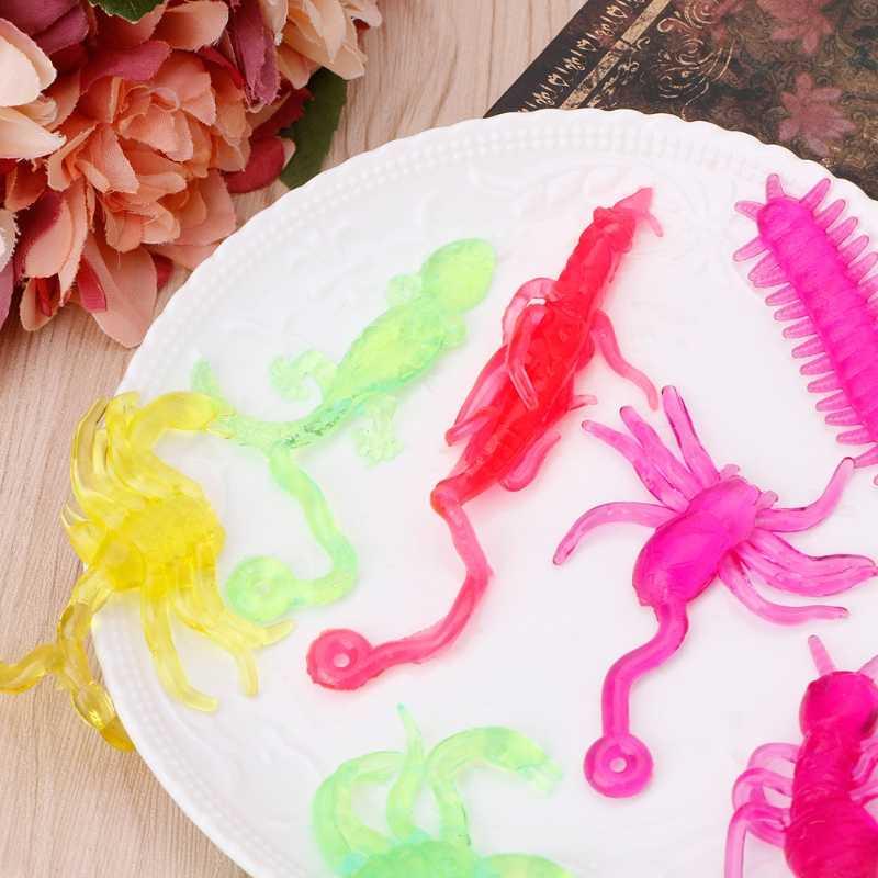 Lengket Aneh Serangga Klasik Lucu Mainan Anak Memanjat Dinding Animal Doll Pesta