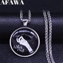 Ожерелье witchcraft из нержавеющей стали и стекла серебряного