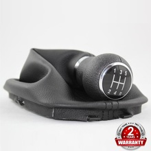 For VW Passat B5 B5.5 1997 1998 1999 2000 2001 2002 2003 2004 2005 Car Styling 5 Speed Gear Shift Knob With Real PU Leather Boot